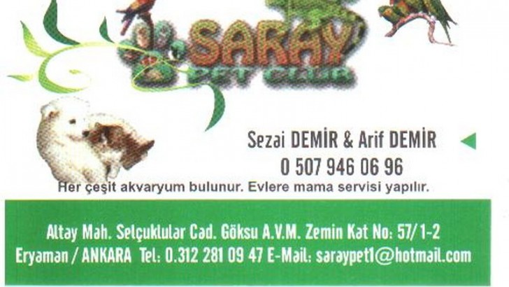 ERYAMANDA PET SHOP AKVARYUM