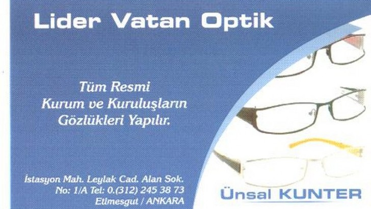 ETİMESGUTTA OPTİK