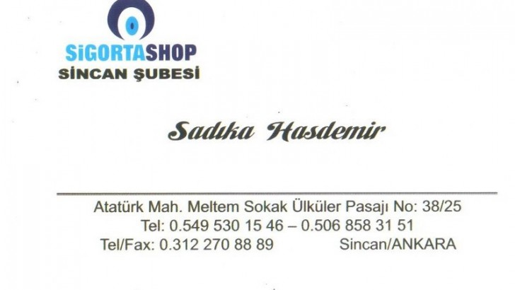 SİNCANDA SİGORTA SHOP